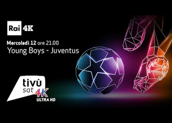 Champions League in 4K: Young Boys - Juventus in altissima definizione su Tivùsat